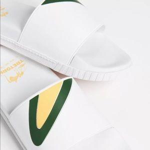 Tretorn white slide Sandals